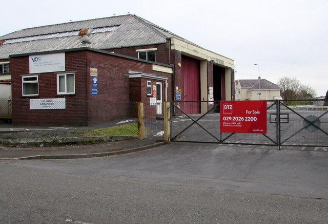 For Sale sign on the former VOSA Test Station, Ammanford