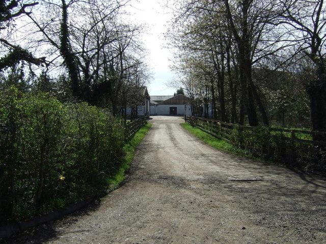 Track to Eshott Home Farm