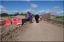 SD4763 : Temporary bridge over Lancaster Canal by Ian Taylor