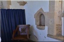 SK8707 : Egleton: St. Edmund's Church: Piscina in the chancel by Michael Garlick