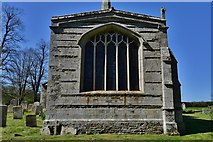 SK8707 : Egleton: St. Edmund's Church: The east  facing chancel window by Michael Garlick