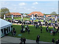 TL6262 : The parade ring - Rowley Mile Course, Newmarket by Richard Humphrey