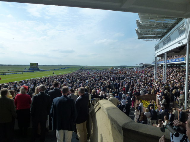 A view from the Premier Head-on Grandstand, Newmarket