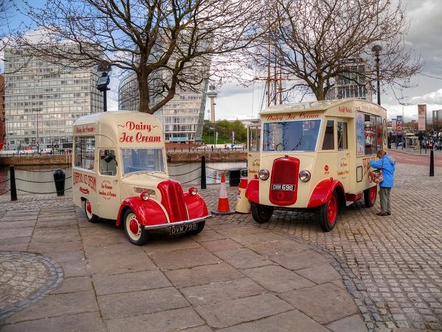 Ice Cream Vans at Liverpool Docks