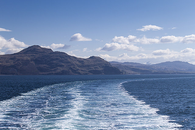 Leaving the Sound of Mull