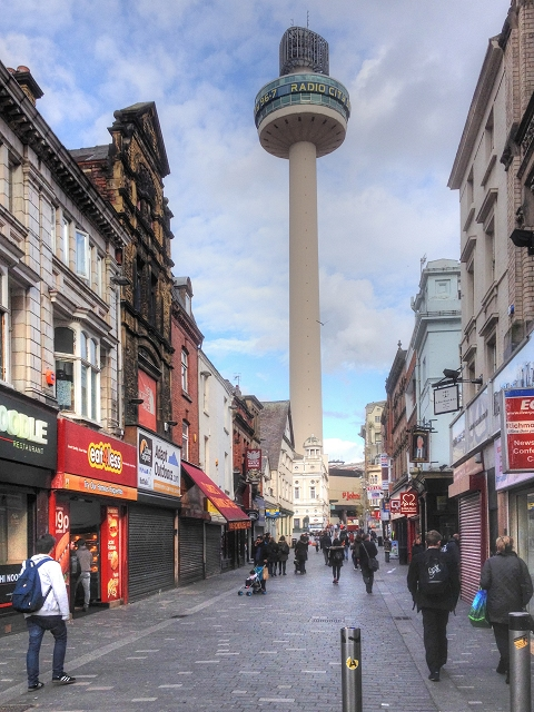 Richmond Street and Radio City Tower, Liverpool