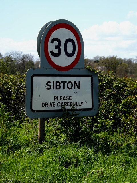Sibton Village Name sign