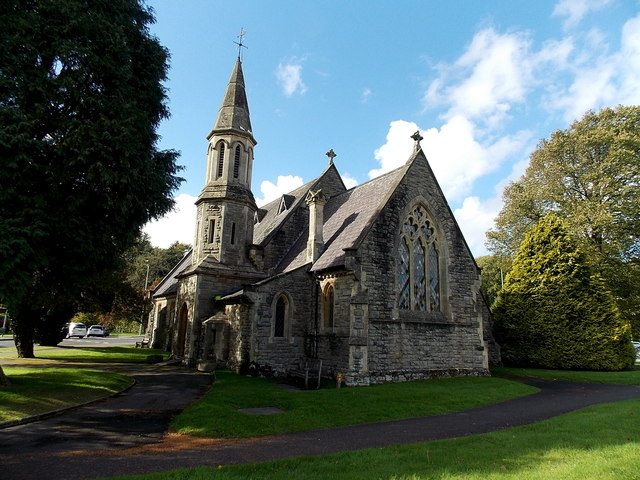 east side of glanrhyd hospital chapel      u00a9 jaggery cc
