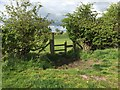 SJ7951 : Audley: stile on field footpath by Jonathan Hutchins