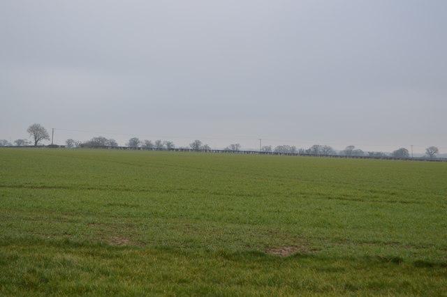 Farmland north of Carleton