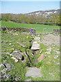 SE0723 : Sowerby Bridge FP079 (N19), Flagged path with culvert underneath by Humphrey Bolton