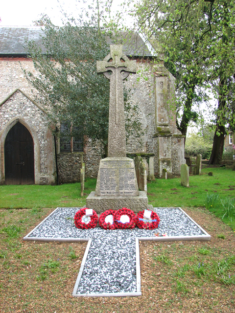 The war memorial at St Mary's church, Docking