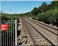 ST0083 : Railway west from Llanharan railway station by Jaggery