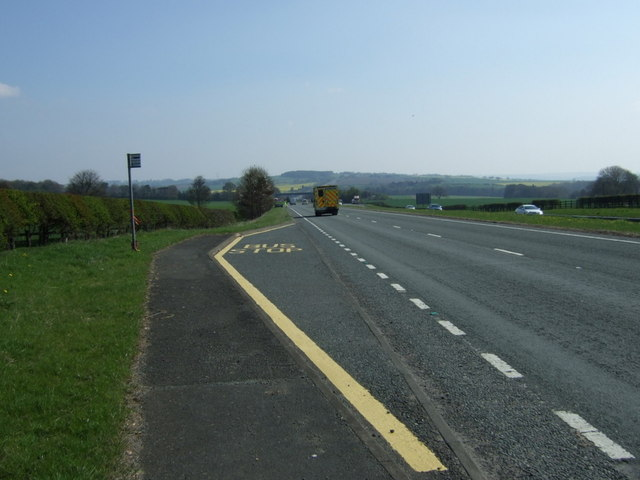 Bus stop on the A69