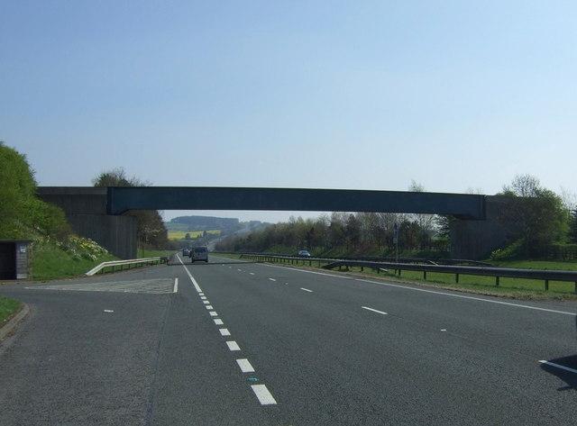 Bridge over the A69