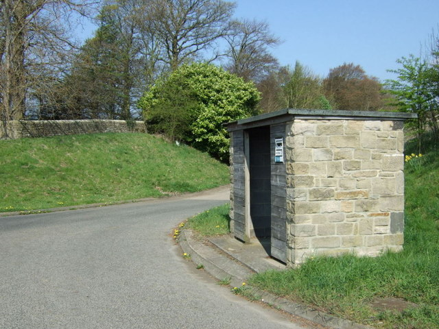 Bus stop and shelter off the A69