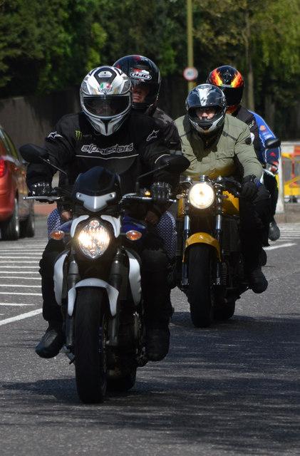 Bikers arriving in Hastings