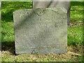 SK6514 : Belvoir Angel headstone, Rearsby churchyard by Alan Murray-Rust