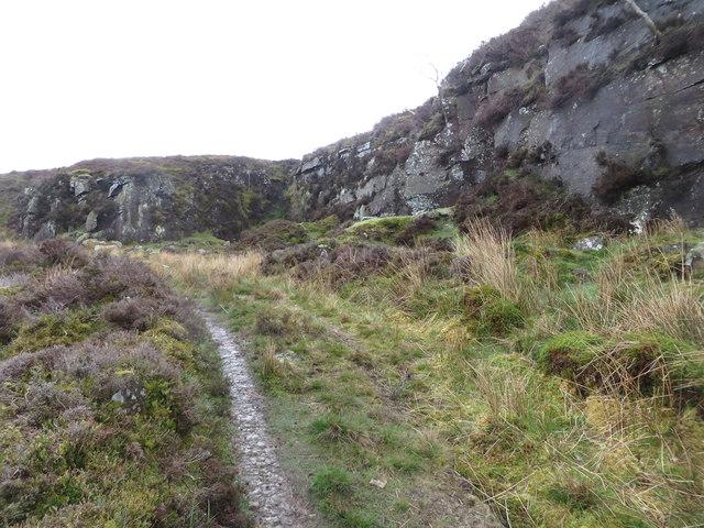 Disused ironstone quarry above Hobb Crag
