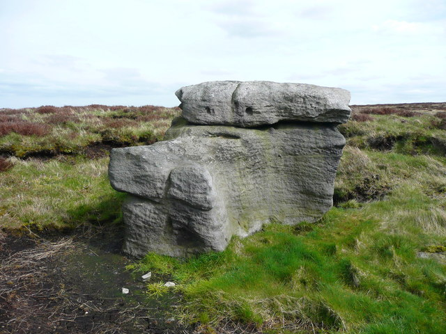Possibly the Hattering Stone, Withens Moor, Sowerby