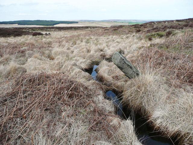 Fletcher Dike and a boundary stone, Sowerby
