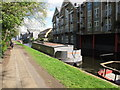 TQ2482 : Buddha Barge - canal boat on Paddington Arm, Grand Union Canal by David Hawgood
