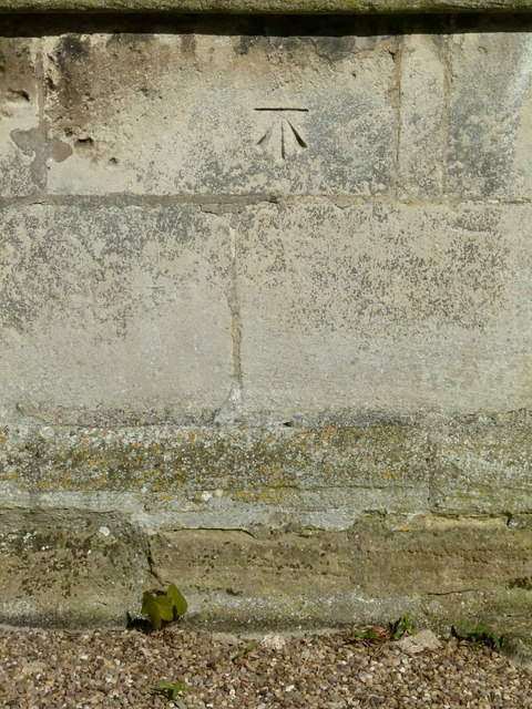 Bench mark, St Michael's Church, Rearsby