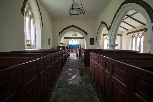 Interior, St Mary's church, Alvingham