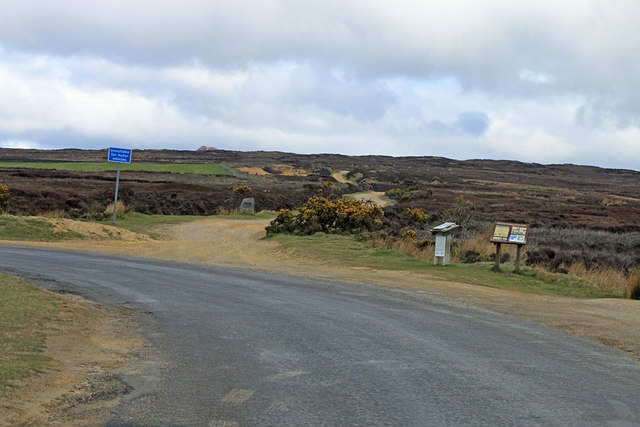 Start of stony, moorland track to Rudland Rigg