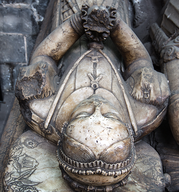 The Collegiate Church of St Mary, Stafford - the Aston tomb (detail)