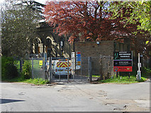 TQ0866 : Waterworks entrance, Desborough Island by Alan Hunt
