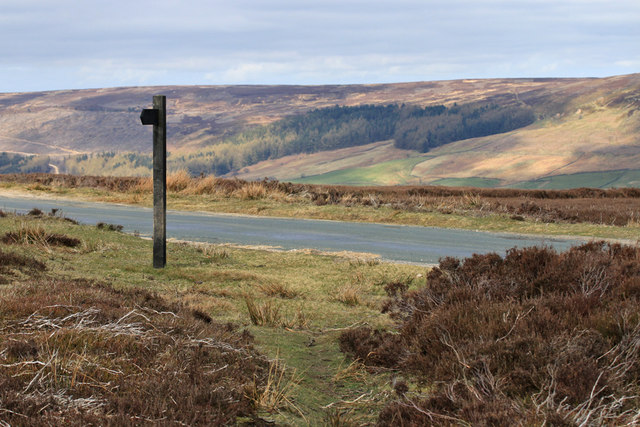 Footpath sign, Bransdale