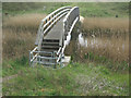 SS7883 : The Wales Coast Path footbridge over the River Kenfig/Afon Cynffig by eswales