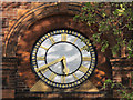 TQ3278 : Former Manor Place baths - clock by Stephen Craven