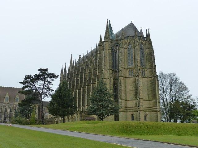 Lancing College Chapel - Three quarter view