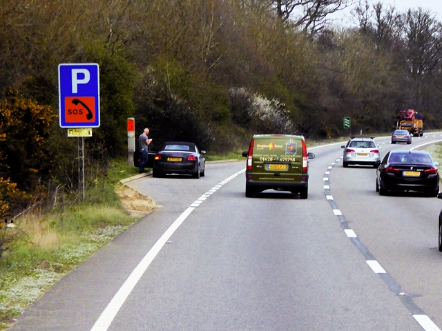 Layby with Emergency Telephone, Southbound A404
