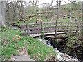 SK2383 : Wooden footbridge by Stephen Burton
