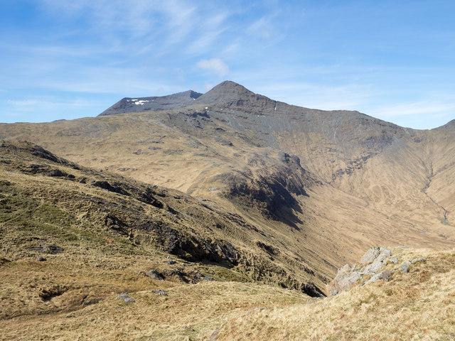Ridge rising towards A' Chìoch