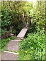 SK3767 : Gate, squeeze stile and bridge on footpath to Barley Mow pub by Norman Caesar