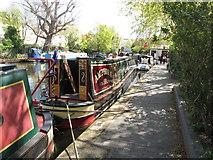TQ2681 : Amphora, No 1, of Gloucester - narrowboat on Paddington Arm, Grand Union Canal by David Hawgood