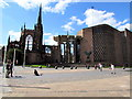 SP3379 : Ancient and modern Coventry Cathedral by Jaggery