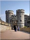 SU9777 : Windsor Castle, The Norman Gate by David Dixon