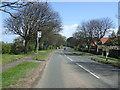 NU1734 : Bus stop on Radliffe Road (B1342), Bamburgh by JThomas