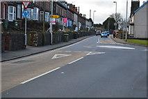 SH5771 : Caernarfon Rd, Penchwintan Rd junction by N Chadwick