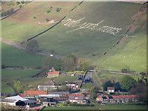 SE7197 : Hillside sign, Rosedale by Pauline E