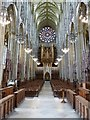 TQ1906 : Lancing College Chapel - Nave - looking west by Rob Farrow