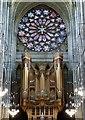TQ1906 : Lancing College Chapel - Organ and Rose Window by Rob Farrow