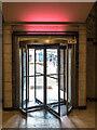 TQ3088 : Entrance, Hornsey Town Hall, London N8 by Christine Matthews