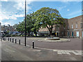 TQ3088 : Square outside Hornsey Town Hall, London N8 by Christine Matthews
