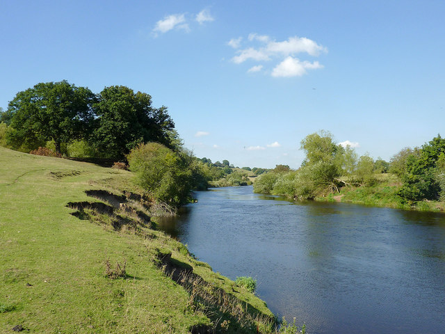 The River Severn north-west of Upper Arley, Worcestershire